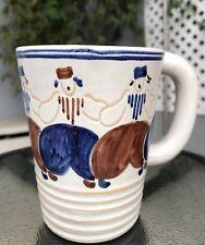 Unique Clowns Festival Glazed Ceramic Coffee Mug Hand Made Tea Cup Joska M