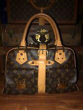 Authentic LOUIS VUITTON Manhattan GM Monogram Bag Handbag Satchel Tote