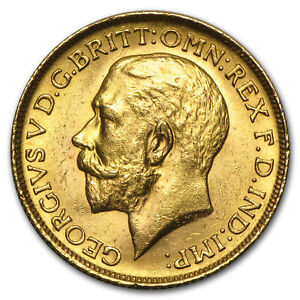 SPECIAL PRICE! 1911-1925 Great Britain Gold Sovereign George V BU
