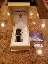 Gruen Swiss Automatic GSM014 274 25 Jewels 2824 Men's Wristwatch Watch Vintage