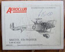 AEROCLUB 1/48 BRISTOL F2b FIGHTER KIT. Plastic, white metal.  *USED*