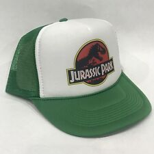 Jurassic Park Movie Promo Trucker Hat Vintage 90's Mesh Back Snapback Cap! Green