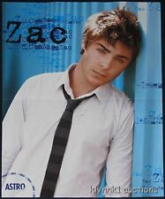 Zac Efron 3 Posters Centerfold Lot 1514A Demi Lovato and Selena on back