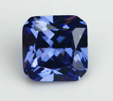 Unheated 6.73ct Natural Mined Blue Sapphire Square Cut 10x10mm VVS Loose Gems