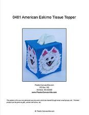 American Eskimo Dog Tissue Topper-Plastic Canvas Pattern or Kit