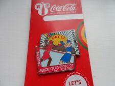 Juegos Olímpicos de Londres 2012 Coca Cola | Boxeo Pin Insignia en tarjeta