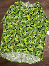 � Nwt LuLaRoe Irma T Shirt Top * Muppets Kermit the Frog * Size M �