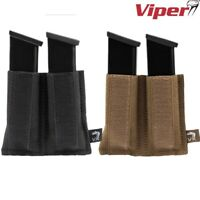 VIPER VX DOUBLE PISTOL MAG SLEEVE POUCH MAGAZINE HOLDER AIRSOFT ARMY WEBBING