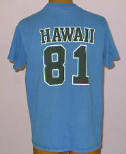 HAWAII 81 VINTAGE T-SHIRT FOOTBALL JERSEY LETTERS HELLS ANGELS NOMADS SIZE XL