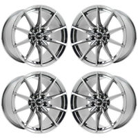 "19"" FORD MUSTANG SHELBY GT350 PVD CHROME WHEELS RIMS FACTORY OEM 10053 EXCHANGE"