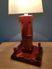 Handmade Chunky Unique One Of A Kind Traditional Table Lamp Wooden Wood