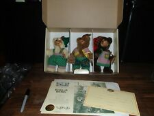 Limited Edit. Robert Raikes Christmas Craftsmen 1994 Collectible Bears w/box COA
