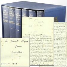 Winston Churchill - The World Crisis, with 5 inscriptions from WSC to his Aunt