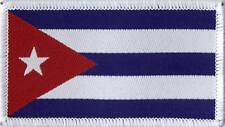 Cuban Flag Cuba Woven Badge, Patch 8cm x 4.5cm