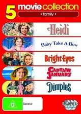 Shirley Temple Collection - Heidi / Baby Take A Bow / Bright Eyes / Captain January / Dimples (DVD, 2010, 5-Disc Set)