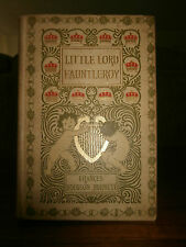 1900 LITTLE LORD FAUNTLEROY RARE ILLUSTRATED FINE BINDING CLASSIC VICTORIAN TALE