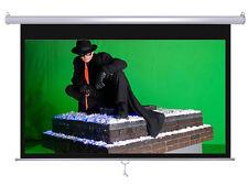 """Maxstar 80"""" Diagonal 16:9 e-z Lock Pull Down Projector Manual White Screen"""