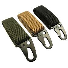 1/3PC Outdoor Tactical Webbing Molle Key Hook Hanging Belt Buckle Clip Carabiner