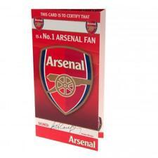 ARSENAL F.C.  No 1 FAN  Birthday Card FREE U.K. P&P