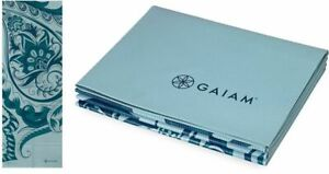 Gaiam Foldable Yoga Mat Super Compact Ultra Lightweight Icy Paisley BRAND NEW