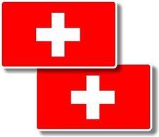Vinyl sticker/decal Small 70mm Switzerland flags - pair swiss flag