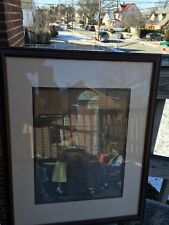 Norman Rockwell Print Young Love THE MARRIAGE LICENSE / Glass / wooden Framed