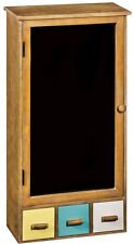 Retro Vintage Blackboard Cupboard Cabinet NEW Yellow Blue White Drawers NEW