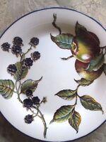 "2 PIER 1 england Angleterre MACINTOSH 7 7/8"" Salad Plates Apples Blackberries"
