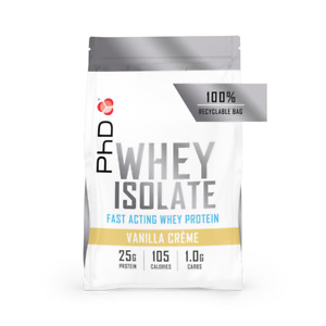 PhD Whey Isolate Protein Powder 1kg  (Choose Flavour)