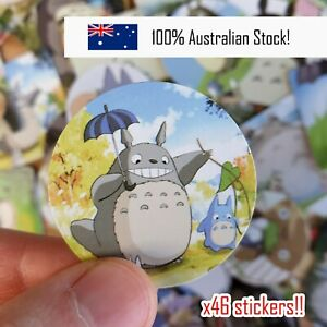 Totoro Japanese BULK Stickers, Scrapbooking, Planner, Diary, Craft, x46 pieces!