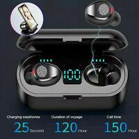 Bluetooth 5.0 TWS Wireless Earbuds Headphone Headset Noise Cancelling Waterproof