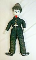 Vintage Porcelain Charlie Chaplin Celebrity Doll Approximately 18 inches Tall