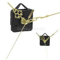 Gold Hands Black DIY Quartz Clock Movement Mechanism Repair Tool Parts Kit Set