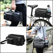 Bicycle Pannier Rear Rack Saddle Basket Bag Mountain Bike Trunk Sporting Goods