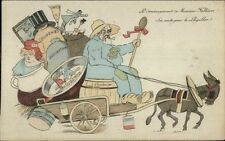 French Political Satire FALLIERES LOUPILLON - Nomads Migrants Postcard c1910