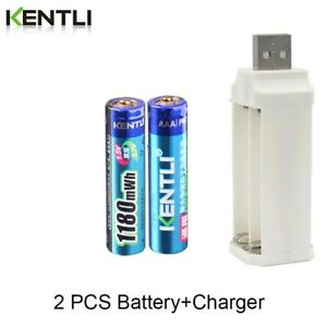 Rechargeable-battery-AA-3000mWh-1-5V-li-ion and Charger