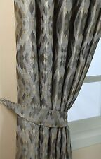 Homescapes Gold Silver and Pewter Contemporary Diamond Design Curtain Tie Back