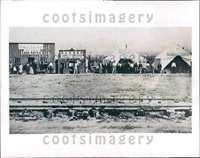 1944 Promontory Utah Western Frontier Boom Town Press Photo