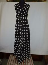 WALLIS BLACK AND WHITE SPOTTED   DRESS - - SIZE UK 10