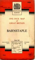 1960 Vintage Ordnance Survey One-Inch Seventh Series Map Sheet 163 Barnstable