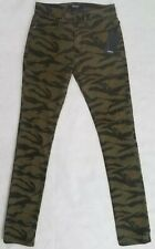 Hudson Axl Skinny Fit Tiger Camo Jeans - Size 28 - M715ZTWR-TGRC $205