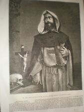 The Monk by Lake Price 1856 print ref AT