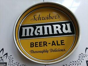 Vintage Schreiber's Buffalo NY MANRU Beer & Ale Tray / Man Cave Art
