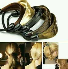 Korean Hair Ponytail Holders Plaits Hair Circle Manual Twist Black Rubber Band