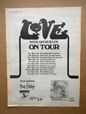 More details for love featuring arthur lee on tour 1975 poster sized original music press advert