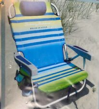 Tommy Bahama Backpack Chair Green Beach Lounge Folding Chair