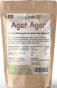 Agar Agar Powder 100g, Gluten Free (Compostable pouch) by NKD Living