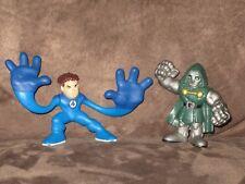 Mr. Fantastic & Dr. Doom (Green Eyes) Doombot - Super Hero Squad Cake Topper