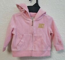 👼Juicy Couture Bling Bling Pink Track Suit Jacket Baby Girl 3-6 Months