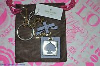 Kate Spade Cut Out Spade Key Fob Chain THISTLE Purse Charm Key Ring NEW $38